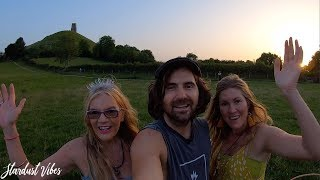 300,000 SUBSCRIBERS! Woohoo! We Celebrate by Walking up to the Top of Glastonbury Tor UK