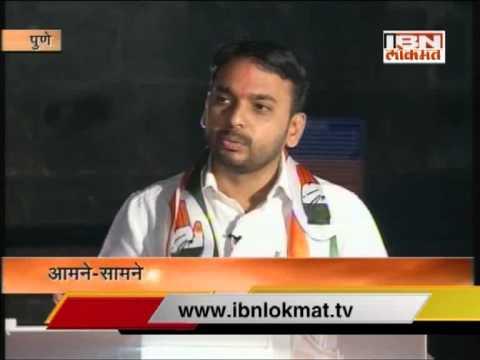 Dr. Vishwajeet Kadam on IBN Lokmat Aamne Samne Part I