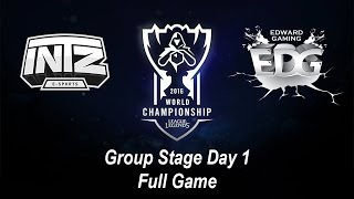 INTZ vs EDG | Group Stage Day 1 | World Championship 2016 League of Legends