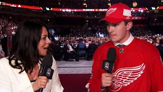 Rasmussen sharing draft experience with family, friends