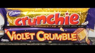 Cadbury Crunchie vs Nestle Violet Crumble Blind Taste Test