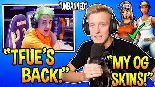 Ninja Reacts To Tfue *OG* Account FINALLY UNBANNED! Fortnite FUNNY & EPIC Moments