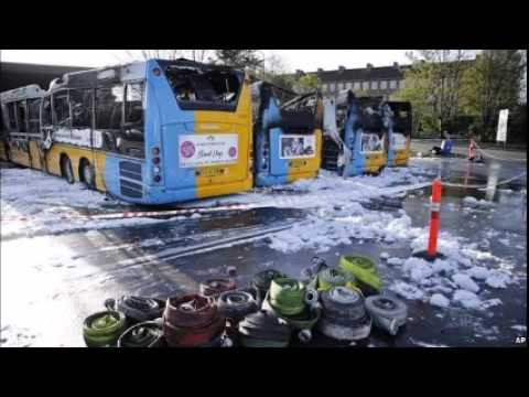 Copenhagen buses burned in 'anti-Israel attack'