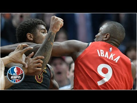 Serge Ibaka, Marquese Chriss fight, Cavaliers knock out Raptors 126-101 | NBA Highlights