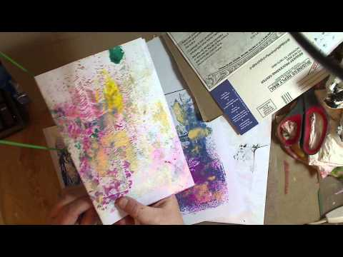 How to Make a Junk Journal with stuff around the house- Pt2