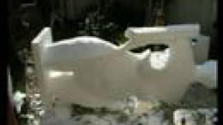 video réalisation d'une sculpture en polyester