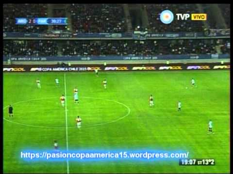 Argentina 2 Paraguay 2  (Relato Andres Cantor)  Copa America 2015