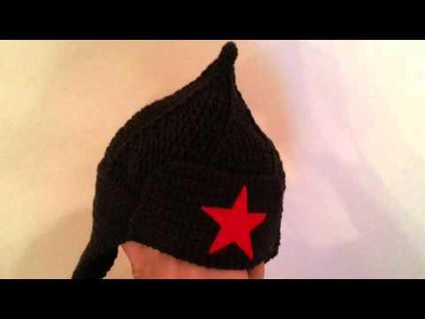Вязание шапки будёновки 55