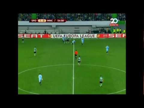 Stijn Schaars vs Gareth Barry  Sporting CP vs Man. City 1-0