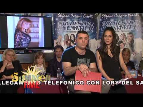 INTERVISTA A LORY DEL SANTO SU SUMMER TIME TV con Capano Stefano