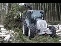 Repairing logging road with new Valtra A124 forestry tractor