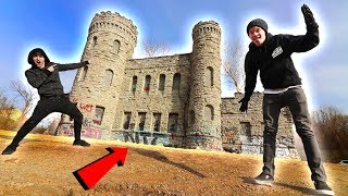 (ALMOST FELL 100 FT) EXPLORING ABANDONED CASTLE