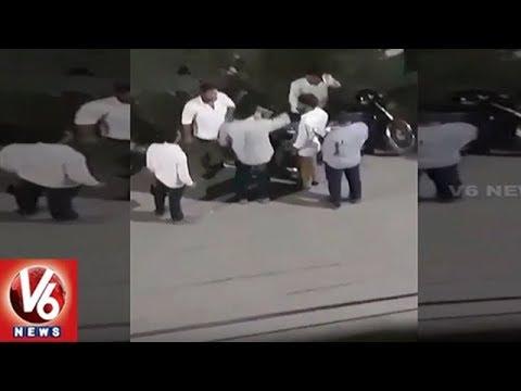 Anjan Kumar Yadav Son Aravind Kumar Assaults Newly Elected NSUI Leader | V6 News