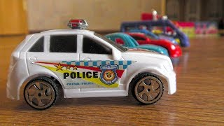 Video for kids: Various Toy Cars Driving on Their Own
