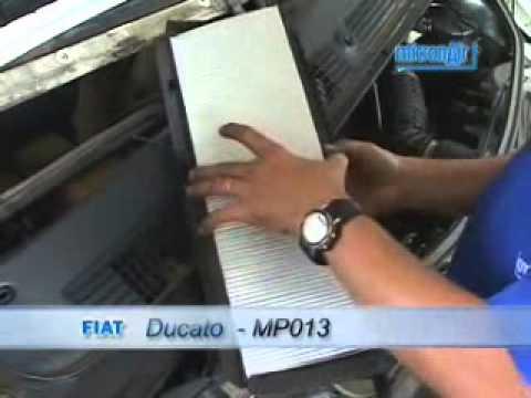 Troca de filtro de ar condicionado do Ducato