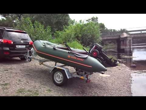 спуск моторной лодки