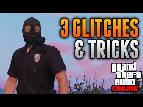 GTA 5 Online - 3 GLITCHES & TRICKS ONLINE! (Mask Glitch, Rank Up & Aircraft Carrier in Freeroam)