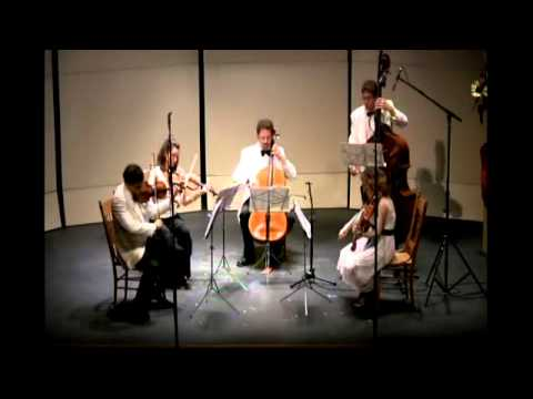 Dvorak String Quintet in G Major, Op.77 - 2nd movement. Central Vermont Chamber Music Festival.