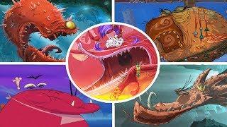 Rayman Origins - All Bosses (No Damage)