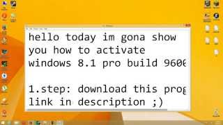 How to activate Windows 8.1 Pro Build 9600