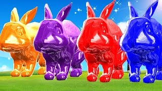Learn Colours With Baby Rabbits Colour Song || Cartoon 3D Animation Childern Nursery Rhymes