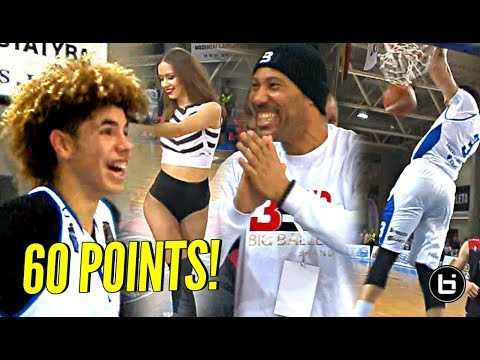LaMelo & LiAngelo Ball Score 60 POINTS & DUNKS GALORE in 3rd PRO Game In Lithuania!