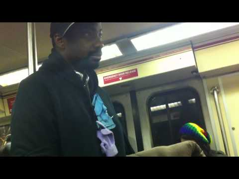 Crazy Man Yelling in Metro
