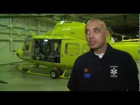 CMTV acompanha helicóptero do INEM