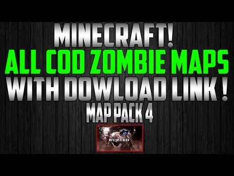 Minecraft Map Pack 4 ( All COD Zombie Maps ) Converted From PC - XBOX! w/Download