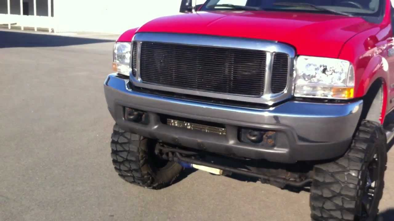 Lifted Ford F250 >> 1999 F250 CREW CAB 4X4 LIFTED 8 ON 37'S - 143K **MUST SEE** - YouTube