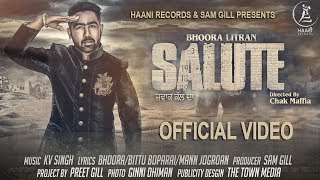 Latest Punjabi Song ● 2017 ● Salute ● Bhoora Littran ● Official Video ● HAAਣੀ Records