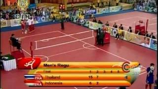 SepakTakraw SEA GAMES 2011 [Thailand-Indonesia]Gold Medal Match Set2