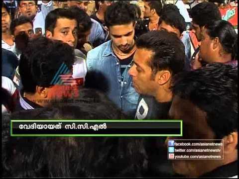 Malayalam Bodyguard Dileep and Hindi Bodyguard Salman Khan in CCL 2013
