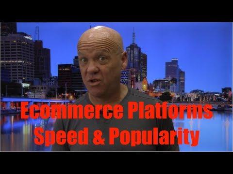 Ecommerce Platforms Speed & Popularity