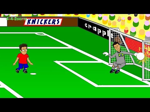 BRAZIL PENALTY SHOOTOUT Brazil vs Chile 1-1 Highlights 28.6.2014 by 442oons (World Cup Cartoon)