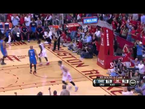 NBA Playoffs 2013: NBA Oklahoma City Thunder Vs Houston Rockets  Highlights April 29, 2013 Game 4