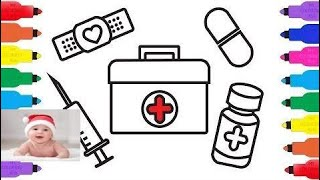 How To Draw Medical Doctor Kit For Kids K