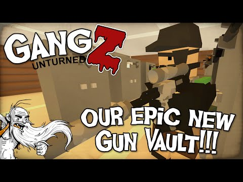 OUR EPIC NEW GUN VAULT!!! - Unturned GangZ PvP Multiplayer Let's Play