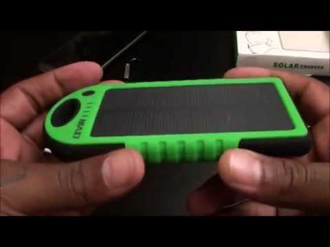 Levin Solar Panel Charger 5000mAh Rain-resistant and Dirt/Shockproof Dual USB  Charger