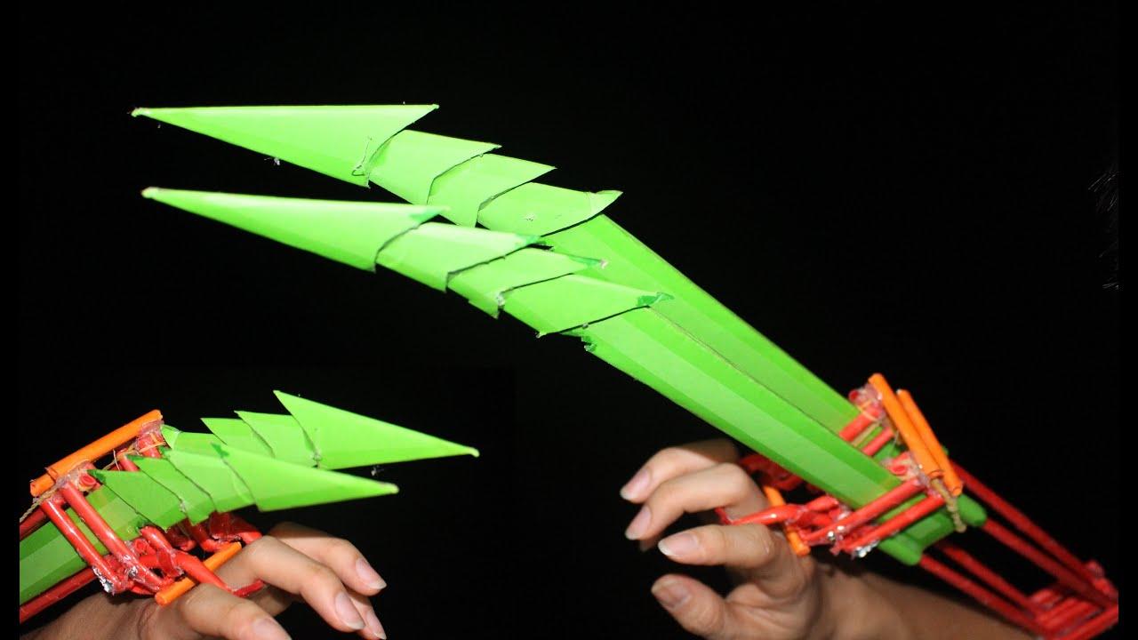 Как сделать драконий коготь из бумаги