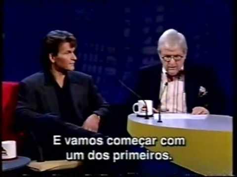 Patrick Swayze Jo Soares 1995 pt1