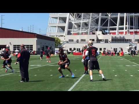 Colin Kaepernick at 49ers OTA practice