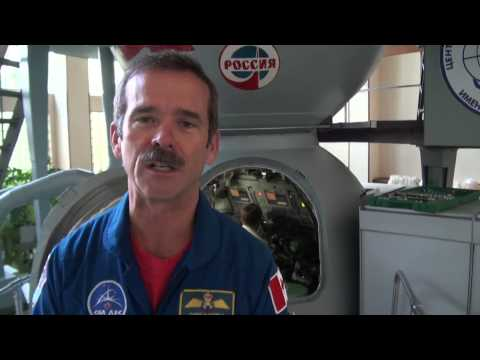 Astronaut Chris Hadfield trains in a Soyuz Simulator in Star City, Russia.