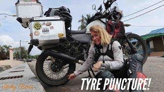 [Eps. 36] TYRE PUNCTURE! - Royal Enfield Himalayan BS4 - Kuala Lumpur, Malaysia