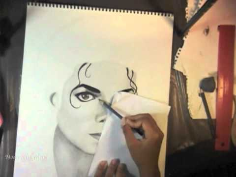 Bad Michael Jackson Speed Drawing video