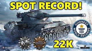 World of Tanks - Bat.-Châtillon 25 t - 22K SPOT DAMAGE! - WORLD SPOT RECORD!