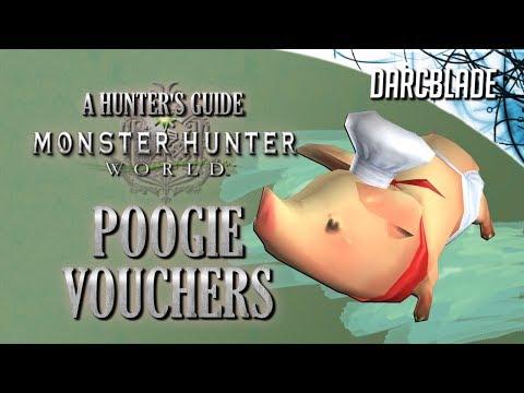 Poogie Vouchers : Monster Hunter World