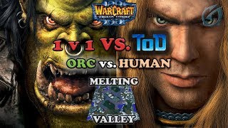 Grubby | Warcraft 3 The Frozen Throne | Orc vs. HU 1v1 Against ToD  - Melting Valley