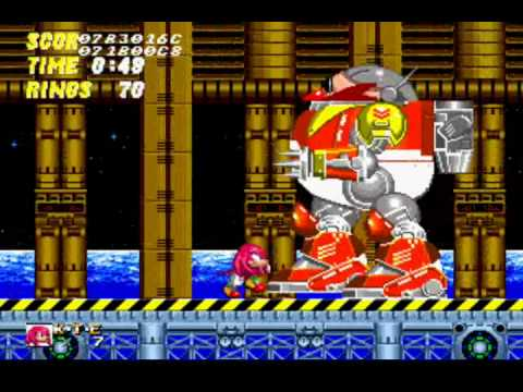 Super Knuckles vs Super Sonic Knuckles in Sonic 2 Super