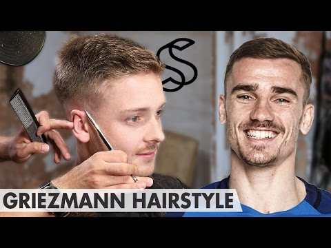 Antoine Griezmann Hairstyle ★ Short Sporty Side Swept ★ Men hair inspiration